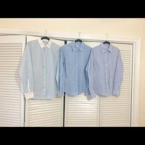 Set of 3 Brooks Brothers Sz4  Blue blouses